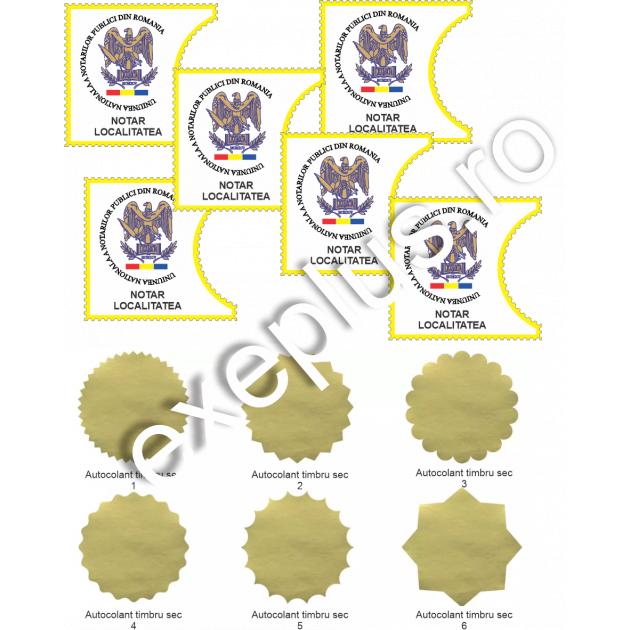 Timbre notariale personalizate